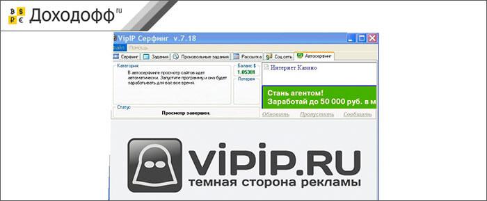 Сервис активной рекламы vipip